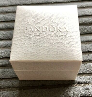 Genuine Pandora 5cm Ring Earring Charm/Bead Box And Gift Bag