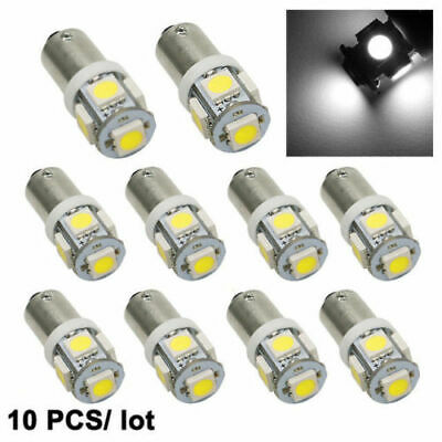 10 x BA9S BAYONET LED LIGHT BULB 5SMD 5050 WHITE PARKER 12V CAR GLOBE INTERIOR