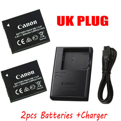 2X Canon NB-11LH Battery Pack+CB-2LDC Charger A4000 A3500 SX400 iS ELPH 340 UK