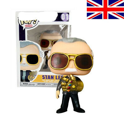 Marvel Avengers Stan Lee With Infinity Gauntlet #01 Funko POP PVC Figure Toys UK