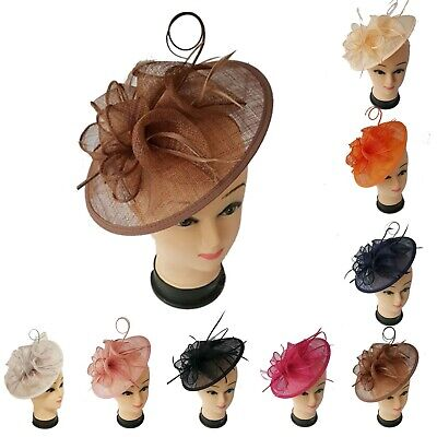 New Large Headband and Clip Hat Fascinator Weddings Ladies Day Royal Ascot Race