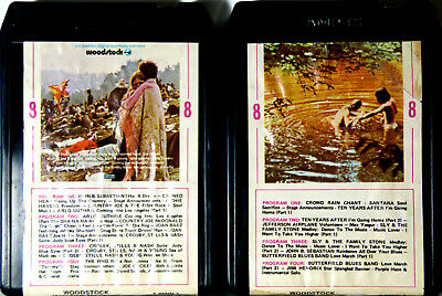 WOODSTOCK Music from Original Soundtrack & More Parts 1 & 2  8 TRACK CARTRIDGE