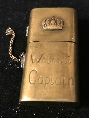 WW1 Trench Lighter - Antique Rare Trench Art Brass lighter In Working Condition