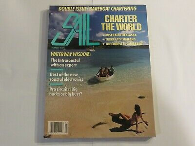 Sail Magazine Boats Ships sailing boating March 1990 Waterway Wisdom V1