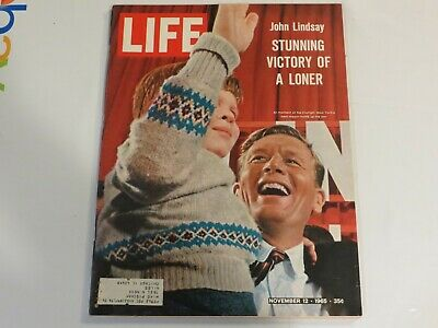 1965 Life November 12-John Lindsay; Charlton Heston; Thurgood Marshall JF1