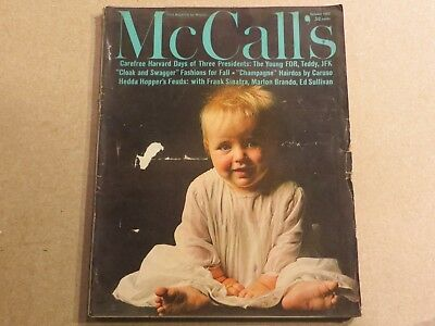 McCall's Magazine Very Rare October 1962 FDR Teddy JFK Caruso Sinatra P2