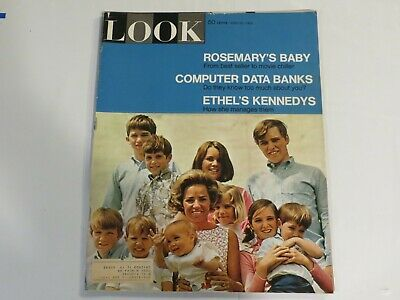Look Magazine (June 25 1968) Ethel's Kennedys and How She Manages Them JF1