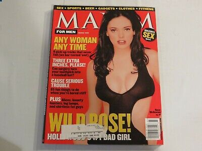 Maxim Magazine March 1999 Rose McGowan NN1