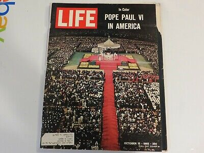 1965 Life October 15 - Pope Paul VI Mass; Arthur Ashe; Sea lab JF1
