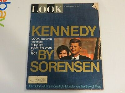 Look Magazine August 10, 1965 Kennedy by Sorenson JF1