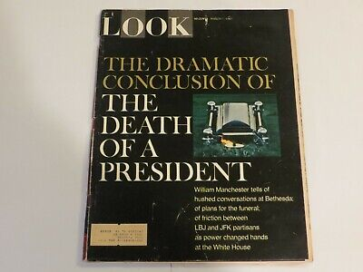 LOOK Magazine March 7 1967 President John F Kennedy Assassination Conclusion JF1