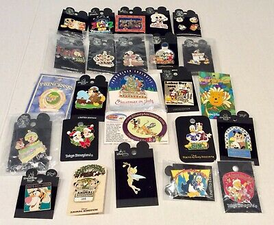 Disney Trading 25 Pin Lot All On Backers Rack Cast Passholder Le Htf Pins