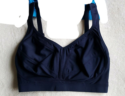 3a10b2931609 Brand New Ex M&S High Impact Non-Wired Sports Bra Navy Sizes 32-40
