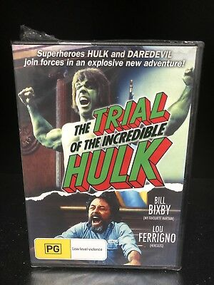 THE TRIAL OF THE INCREDIBLE HULK DVD - BILL BIXBY - LOU FERRIGNO - New & Seale