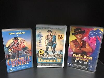 CROCODILE DUNDEE Trilogy VHS 1-3
