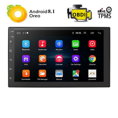 """Double 2 DIN Android 8.1 7"""" Touch Car GPS Stereo Radio Quad Core Player +Bracket"""