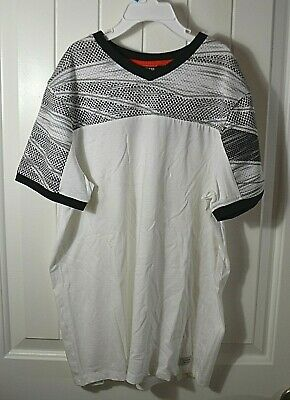 c9dc154682cf New Boys Kids Guess White Black Mesh Top Short Sleeve Crew Neck T Shirt Sz M