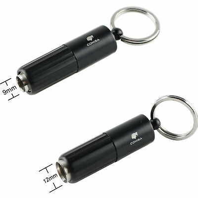 Cigar Punch/Cutter Key Ring 9/12mm Stainless Steel Two Diameters COHIBA Boxed