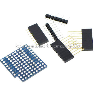 ProtoBoard Shield for WeMos D1 mini double sided perf board Arduino Compatible