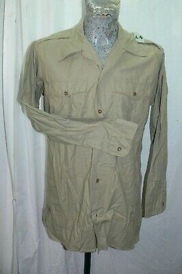 1955 SCOUT,INDOCHINE, CHEMISE Modèle 1948 SABLE Taille L4 Type1  FRENCH SHIRT XL