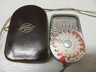 Weston Master V Universal Exposure Meter Model - S461.5 With Leather Case