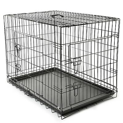 Hundetransportbox 105x71x78 cm Hundebox Hundekäfig Transportbox TSPKG15 #F291