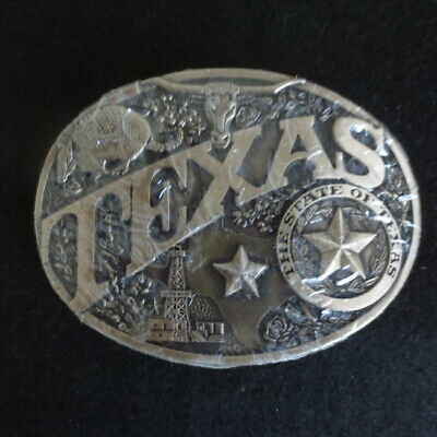"Award Design Solid Brass 3 3/4"" Belt Buckle State Series Texas RARE 1st EDITION"