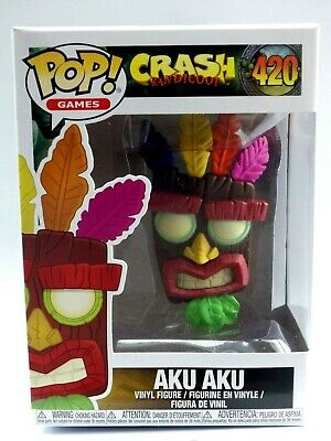 FUNKO POP vynil Figure Game figurine N° 420 AKU AKU crash bandicoot playstation