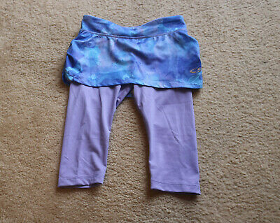 CG by Champion Girls Navy&Purple Athletic Skirt Overlay Track Pants Sz S 6-6X
