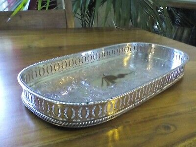 A VINTAGE SILVER PLATED TRAY - silver plated on copper