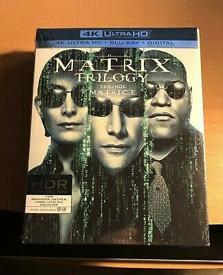 THE MATRIX TRILOGY (4K ULTRA HD/BLURAY)(9 DISC SET)(NEW/Sealed)