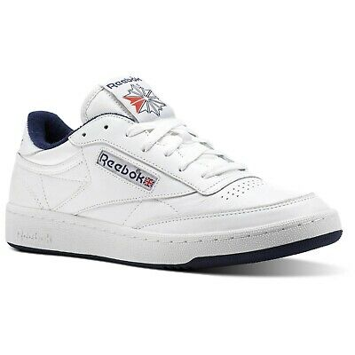 REEBOK CLASSICS C 85 Archive Baskets BLANC HOMME Baskets Cuir Neuf UK