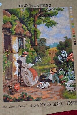 """Tapestry canvas Old Masters """"The Story Book"""""""