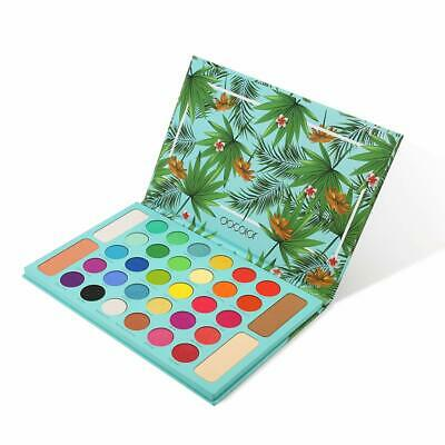 Tropical Eyeshadow Palette Docolor 34 Color Eye Shadow Matte Glitter Highly Pigm