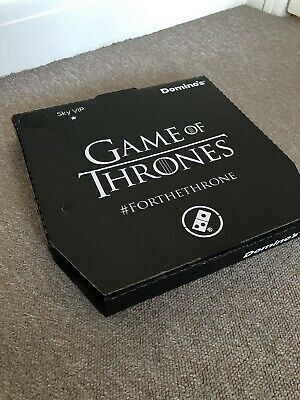 Game Of Thrones Dominos Pizza box / Limited Edition / Clean and Unused