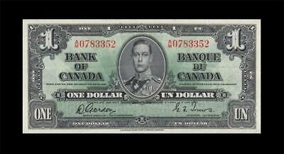 "1937 BANK OF CANADA KGVI $1 **Gordon & Towers** ""A/M"" (( EF ))"