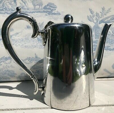 Walker & Hall A1 EPNS silver plated coffee pot with patented handle c. 1920-30