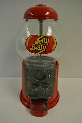 Vintage Jelly Belly/Gum Ball Machine Toy Gumball Machine Metal/Glass