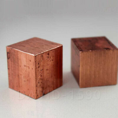 1pcs 99.9% Pure Copper T2 Cu Metal Block Copper Cube  Copper Electrode Sheet Bar