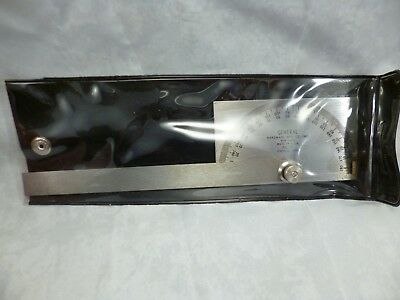 Nos Usa General No. 17 Protractor Stainless Steel Square Head Made In Usa