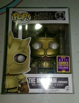 Funko Pop! The Mountain Armoured GOT 2017 Summer Conv. w/ Protective Case NEW!