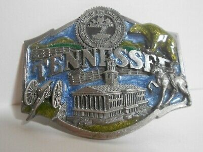 Vintage 1984 Siskiyou Pewter State of Tennessee Belt Buckle *Free Shipping*