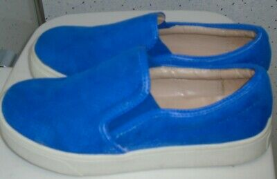 Girls River Island Slip On Shoes Trainers Uk 3 Eur 36 Royal Blue Sneakers Pumps