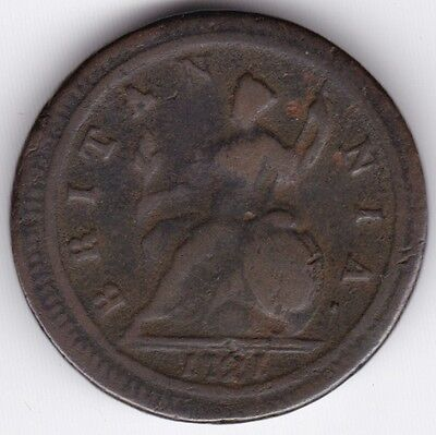 1721 George I Half-Penny | British Coins | Pennies2Pounds