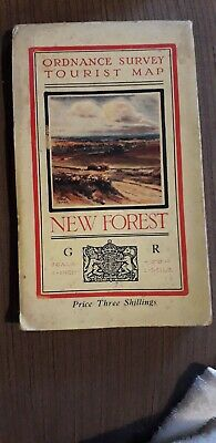 Ordnance Survey Map New Forest Tourist Map 1940s