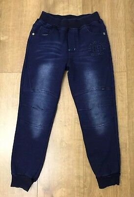 Boys Navy Blue Faded Warm Casual Trousers  9-10 Years / 134-140