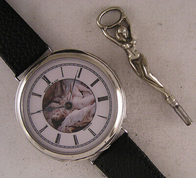 Fully Serviced Patek & Cie Geneve 1870 Erotic Solid SILVER Wrist Watch Perfect