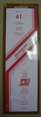 Showgard size 61 clear hingeless stamp mount NEW unopened pack 1st quality 215mm