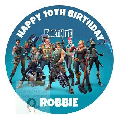 Fortnite Game Cake Topper Personalised Video Game Edible Icing Cake Decoration