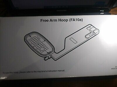 FREE ARM EMBROIDERY Hoop FA10A For Janome MC9900 or Elna 860